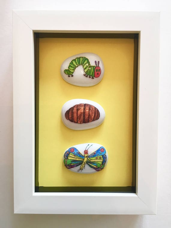 Hungry Caterpillar Box Frame Picture Wall Art Boys