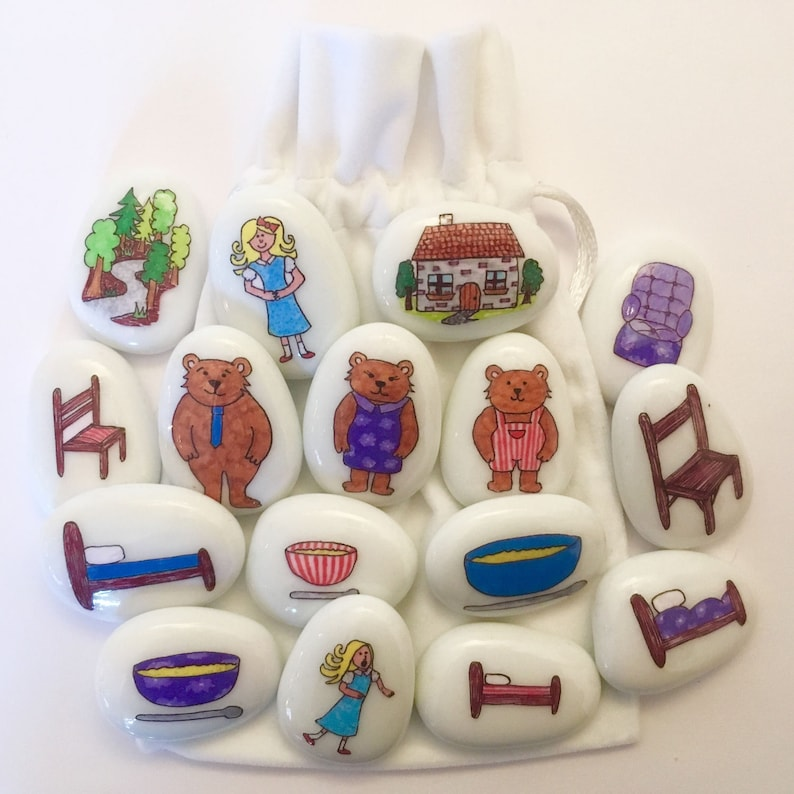 Goldilocks Three Bears Story Story Stones Fairytale Etsy