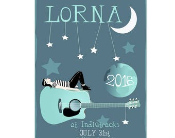 Lorna Poster - Band Poster - Live Music Poster - Music Festival Poster - LORNA live at Indietracks 2016