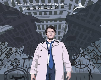 Supernatural - Castiel Angel of the Lord Graphic Poster