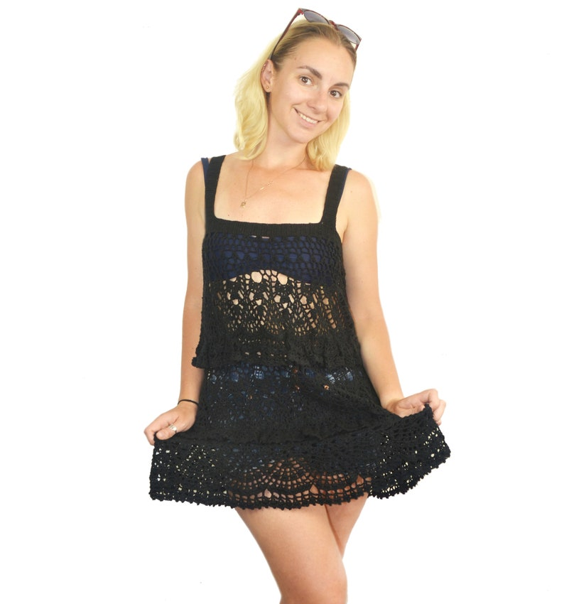5f65457ba8810 black crochet beach dress – Little Black Dress | Black Lace ...
