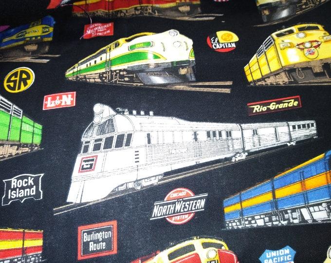 Trains on Black welding cap