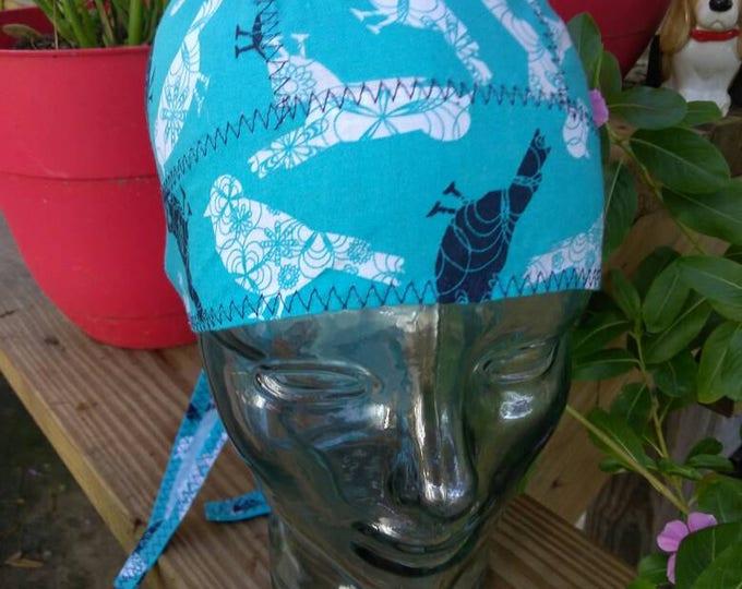 Blue Bird Do-rag head wrap