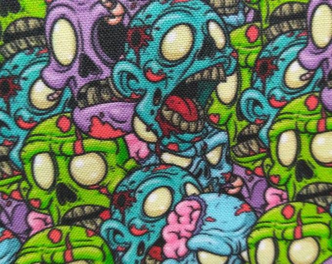 Zombie Brains welding cap custom premium fabric