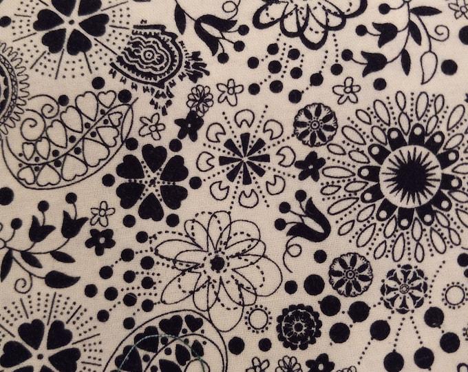 Black Floral Welding Cap