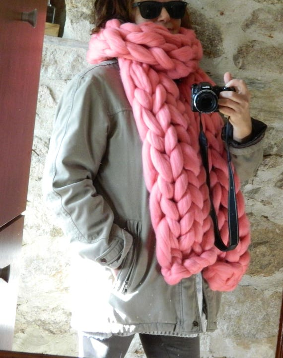 Écharpe en tricot oversize. Écharpe en tricot. Foulard   Etsy c7bcca96779