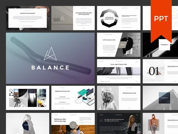 Balance Powerpoint Presentation Template Etsy