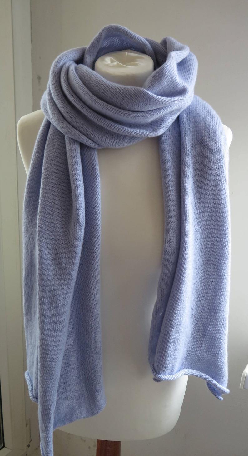 f7b551a3a Blue cashmere scarf blanket scarf cashmere cashmere scarves | Etsy