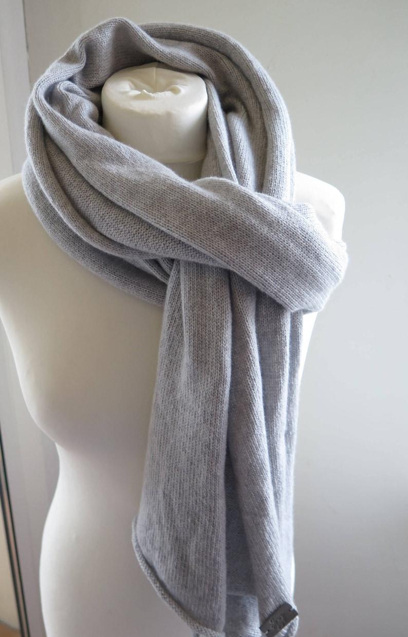 64c5b13ce Cashmere shawl grey cashmere scarf wool pashmina mens | Etsy