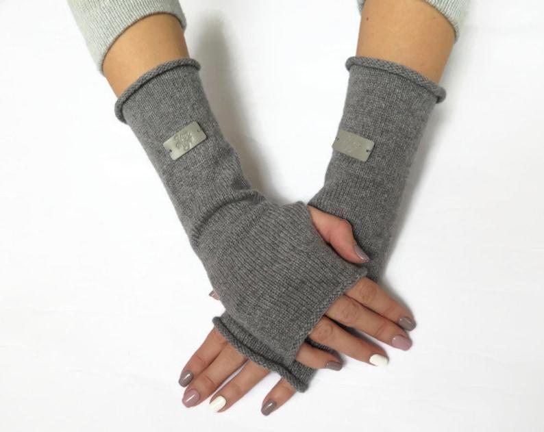 547e9a54fe619 Cashmere arm warmers womens fingerless gloves half finger | Etsy