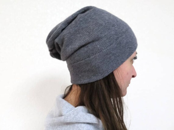 d0a0c604126 Knitted beanie cashmere beanie Slouchy Hat merino wool