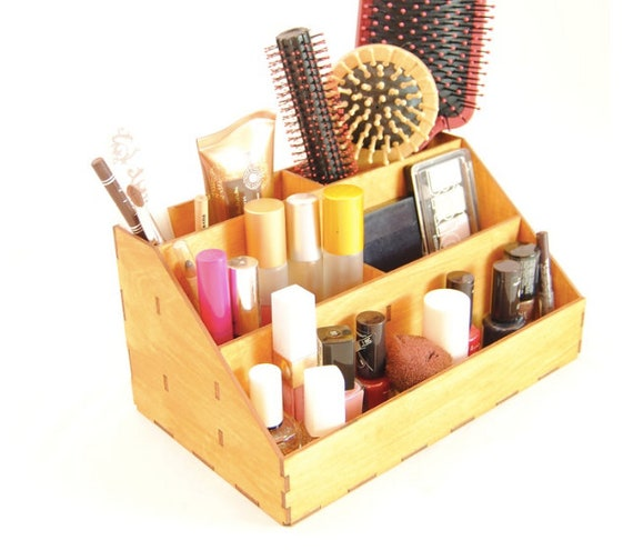 Handmade wood makeup storage box for you, makeup organizer cosmetics  cosmetics organizer PARANA