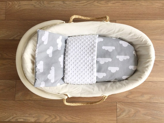 Babywiege stubenwagen komplett set mit matratze decke polter