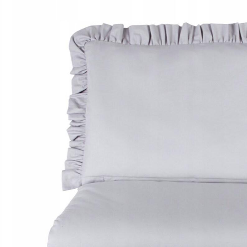 Shabby Bettwäsche 135x100 Grau Babybett Bettbezug Und Etsy