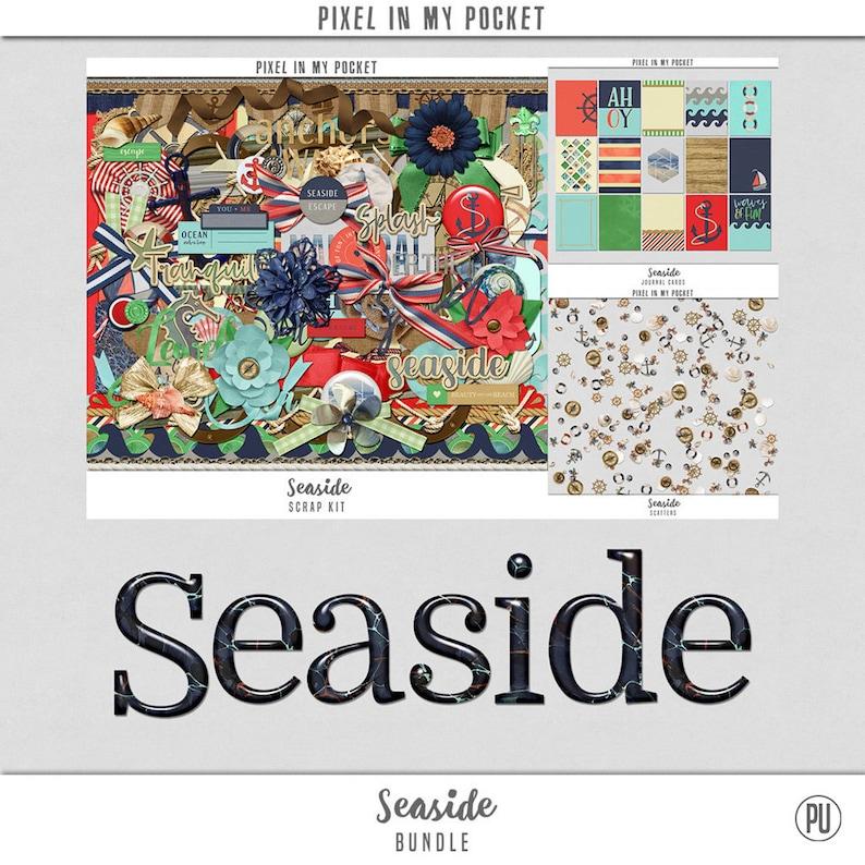 Seaside  A Non Traditional Nautical Scrap Collection Digital image 0