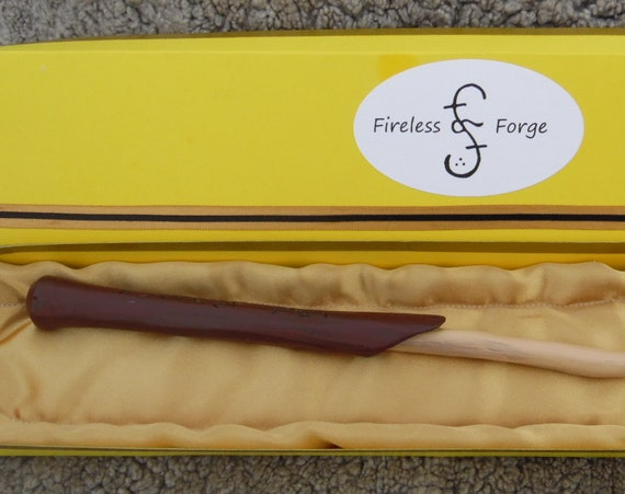 Craobh Airgid. The Silver Bough. Irish Wand of Death. Wooden Wand. Hand Carved. Harry Potter wands. Authentic wooden wands.