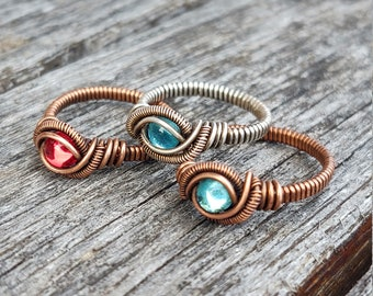 Fancy wire wrapped rings