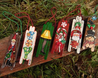 small christmas sled decorations
