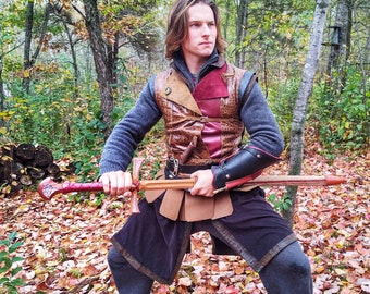 Amethyst Long Sword. Wooden Sword, Real Leather Scabbard. CosplaySword CosplaySword and Scabbard. GOT Weapons LOTR Swords The Hobbit Weapons