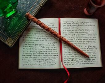 Granger Cosplay Wand, 13 inches, Mahogany and Dragon Heartstring.