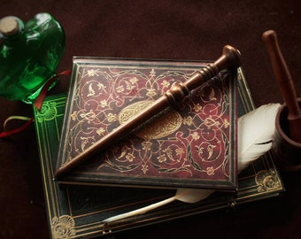 """Custom Wands - Walnut and Phoenix Tail Core, 11 1/2"""" inches, Unyielding."""