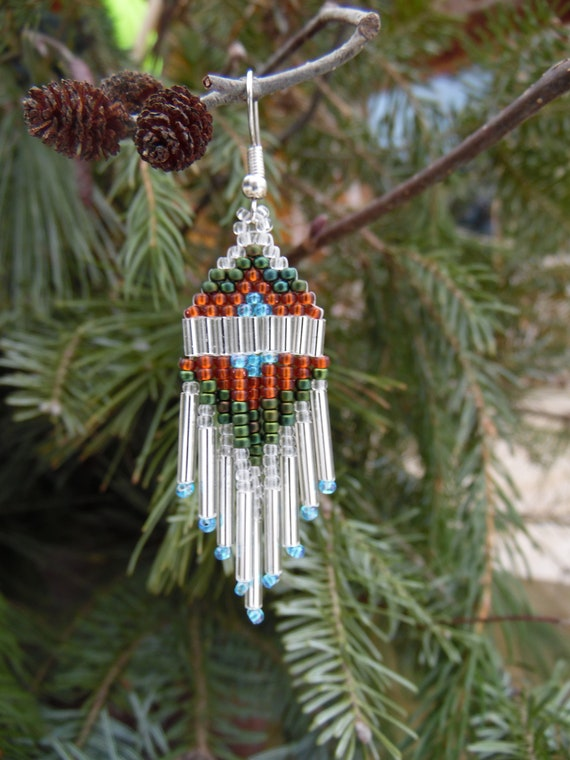 North Wind - handmade Native American beaded earrings