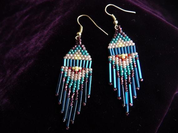 Standing Rock - Native American inspired handmade beaded earrings