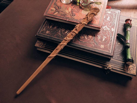 Hermione Granger Cosplay Custom Harry Potter Wands Real Wood Handmade Gryffindor Gifts