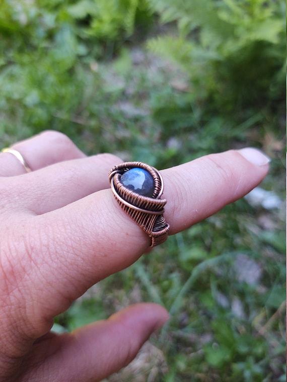Dragoneye Rings - woven copper wire rings
