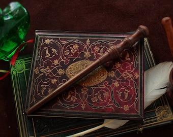 "Custom Wands - Solid Walnut Wand, 11 1/2"" - Perfect for Gemini, Leo, Virgo"