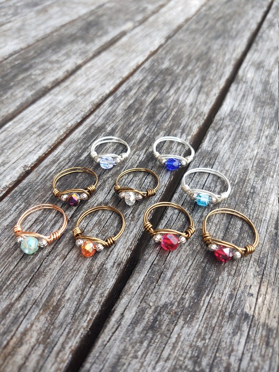 Statement rings - wire wrapped rings