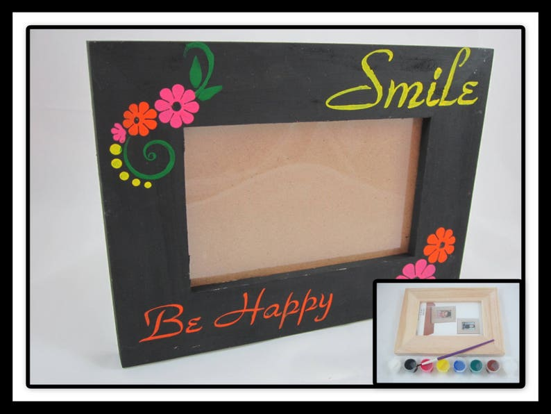 Diy Craft Kit Diy Picture Frame Decorate Your Own Wooden Etsy