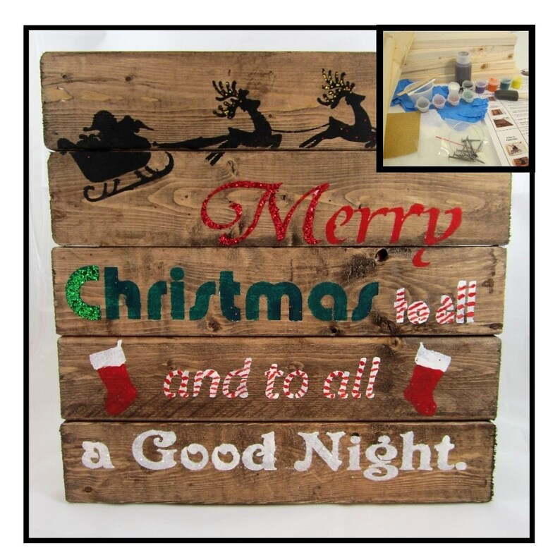 Diy Christmas Christmas Craft Project Diy Board Sign Craft Etsy