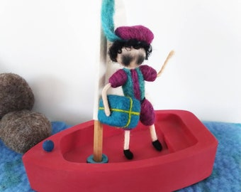 Soot wipes needle felt dolls to order for the yeartable/season table