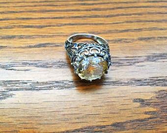 Yellow Citrine Ring - Size 10