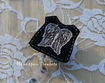 TWD Feltie Designs- Daryl Dixon Feltie Design- Dixon Vest - Felt Felty Feltie - Machine Embroidery Designs - Instant Download - 5x7 Hoop