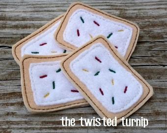 Felt Food Machine Embroidery Design Two Piece Applique Poptart Pop Tart Breakfast Food Pre School Gift Instant Download 5x7 Hoop Kids