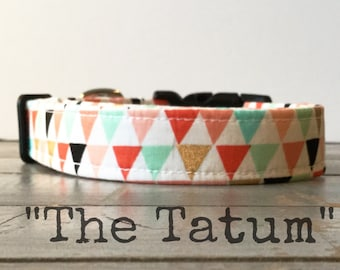 DOG COLLAR, Made to Order, Aztec, Turquoise, Cute Dog Collars, Dog Collar for Girls