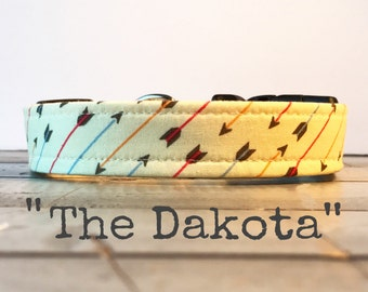 DOG COLLAR, Made to Order, Yellow Arrow, Cool COLLAR, Dog Collars , Gender Neutral Dog Collars