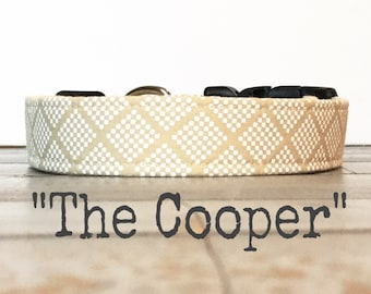 DOG COLLAR, The Cooper, Dog Collar for Girls, Dog Collar for Boys, Wedding, Classic Dog Collar