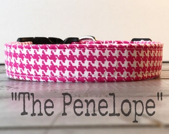 DOG COLLAR, Pretty Dog Collar, Dog Collar for Girls, Pink Dog Collar - The Penelope