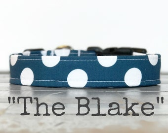 DOG COLLAR, Dog Collars, Cool Dog Collars, Polka Dot, Dog Collars for Boys, Dog Collar for Girls, Gender Neutral Dog Collar, The Blake
