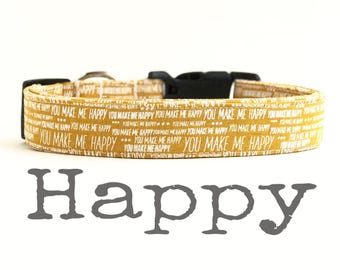 Collier pour chien heureux, colliers de chien, le plaisir, collier de chien, vous êtes mon soleil, les garçon chien, les colliers de chien pour les garçons, fille de chien