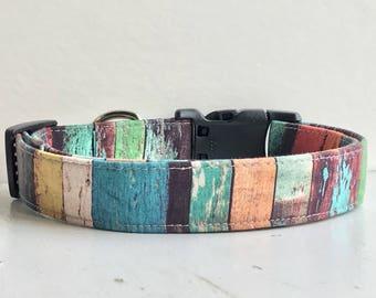 Rustic Dog Collar, DOG COLLARS, The CHIP, Unisex Dog Collar, Shiplap, Pallet, Boy Dog Collars, Dog Collars for Boys, Girl Dog Collar