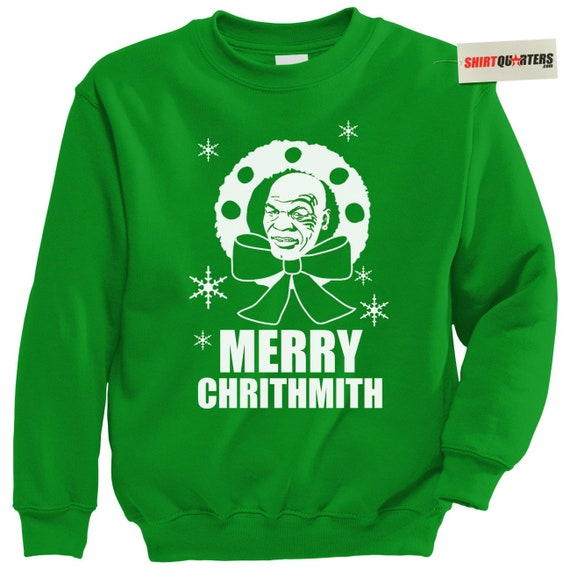 Mike Tyson Merry Christmas.Mike Tyson Ugly Tacky Merry Chrithmith Christmas Happy Hanukkah Party Santa Claus Eve Morning Elf Sweater Sweatshirt Long Sleeve T Shirt