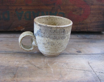 Small CeramicEtsy Mug Finger One Handmade Handle Fancy iPkXuOZ