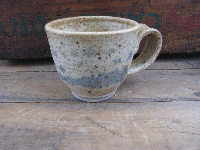 44dacfe066e Small Handmade Mug, Fancy Ceramic Mug, Stoneware Coffee Cup, Rustic white  and blue Coffee Mug, Tea Cup, Handmade Gift