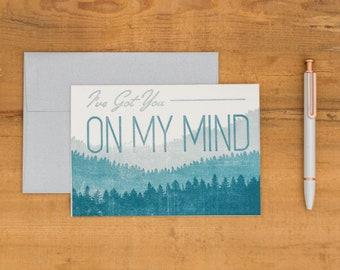 On My Mind -- Letterpress Card