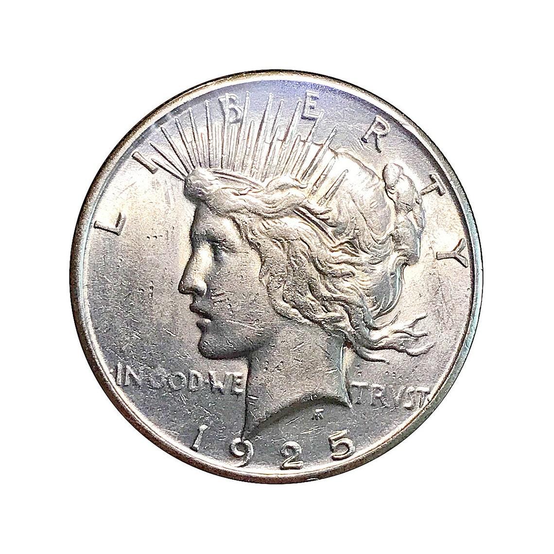 1934 D Peace Dollar AU $1 About Uncirculated