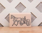 Horse and Buggy - 1.5 tall x 2.75 wide - 1 pc - SUT - F152